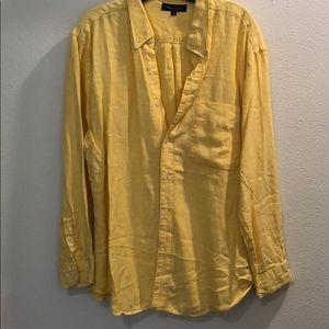 Yellow linen Alan Flusser Shirt